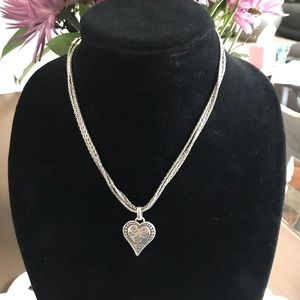 Brighton Double Stranded Heart Necklace